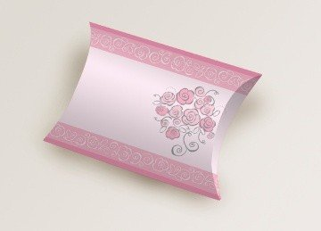 Bride to Be Favor Pillow Shaped Favor Box 20 Per Pack