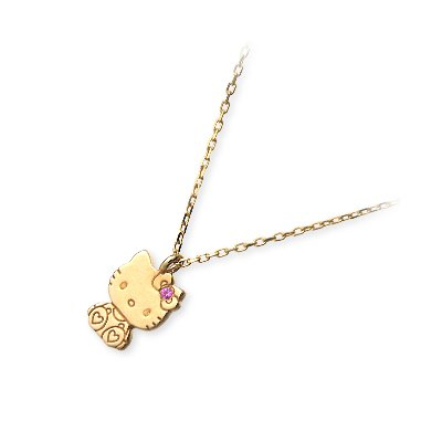 [Icy] I.SHI Hello Kitty K10 gold necklace birthday gift woman KT-01-K10RBC