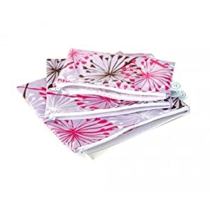 Bumkins Waterproof Zippered Reusable Everyday Diaper Bag, Dandelion 3 Count