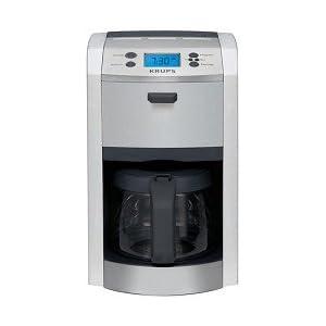 KRUPS KM8105, 12-Cup Die-Cast Programmable Coffeemaker