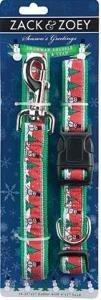 Season Greetings Snowman Shuffle Small Dog Collar and Leash