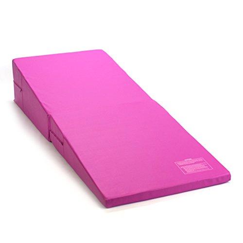 Purple 8ft Gymnastics Adjustable Balance Beam 4ftX6ft Pink//Purple Gymnastics Mat