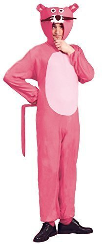 Mens Ladies Pink Panther 1970s Cartoon Jumpsuit Costume - Large