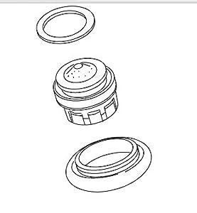 Kohler K-1002110-BN Aerator Kit Mexico, Vibrant Brushed Nickel