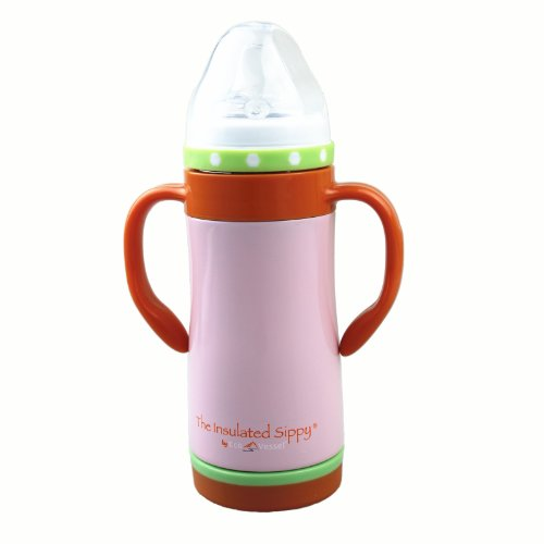 Eco Vessel The Insulated Sippy 10 Oz Pink