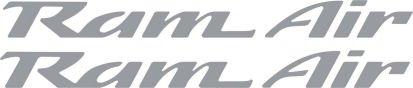 Pontiac Ram Air Hood Decals for Firebird , Trans Am, WS6, Formula (Silver) (Ram Air Hood Firebird compare prices)