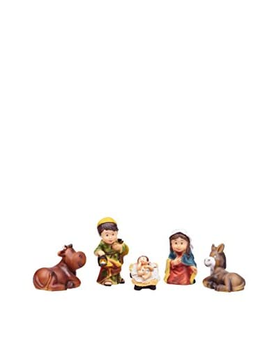 Decoración de Navidad Colección Little Xmas Nacimiento Con Buey Y Mula Multicolor