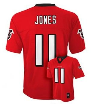 Julio Jones Atlanta Falcons Youth NFL Team Apparel Jersey Red (Youth Large Size 14-16) at Amazon.com