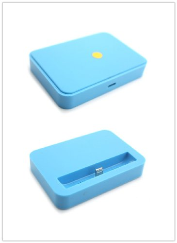 Big Dragonfly Candy Color Series Mini Portable Charging Dock Cradle Desktop Charger Station For Apple Iphone 5/5S Ipod Touch 5 Box Package Blue front-694834