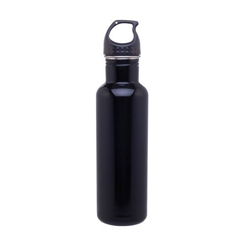 Stainless Steel Water Bottle Canteen - 24Oz. Capacity - Black front-1029451