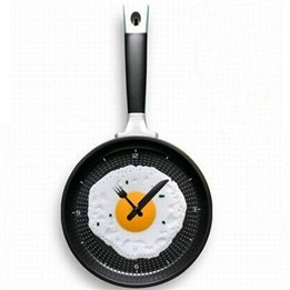 Decor Plastic Digital Fried Eggs Pan Clock
