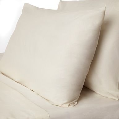 "400 Thread Count 100% Egyptian Cotton Solid Ivory Twin Xl 15"" Deep Pocket Fitted Sheet +2 Pillow Cases front-927157"