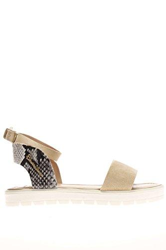 B35.Sandalo fondo gomma spianato.Beige.39