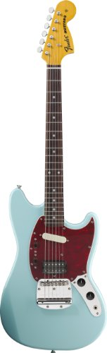 Fender 251400572 Kurt Cobain Mustang Electric Guitar, Sonic Blue