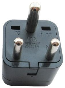 Niceeshop(Tm) Generic Plug To 3 Prong India Plug Travel Converter Adapter,Black