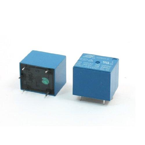 2Pcs 5Vdc Coil 5Pin Spdt Plug In Blue Pcb Power Relay Srd-05Vdc-Sl-C