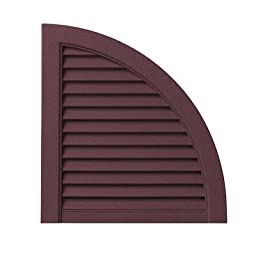 Open Louvered Arch Top (Set of 2) Color: Vineyard Red
