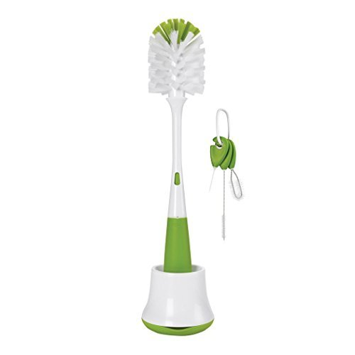 OXO Bottle Brush w/ Nipple Cleaner and Stand & OXO Cleaning Brush Set, Green (Oxo Bottle Brush compare prices)