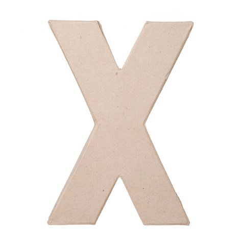 """Ready To Decorate Paper Mache Capital Letter """"X"""" For Crafting, Creating And Projects"""