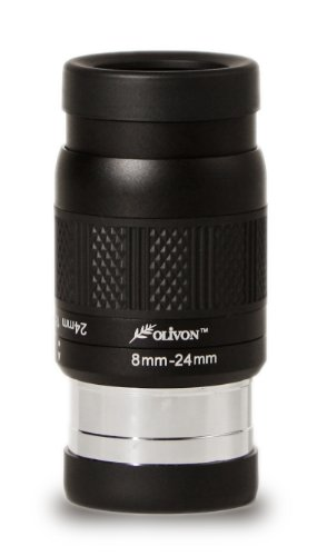 Olivon 3X Deluxe 8-24Mm Zoom Eyepiece, Black, 1 1/4 X 2-Inch