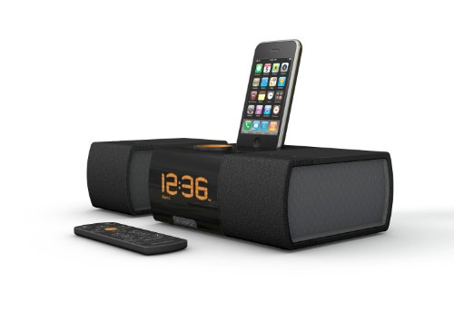 XtremeMac Luna SST Dual Alarm Clock with Detachable Speaker for iPod and iPhone (Black) (049720021803)