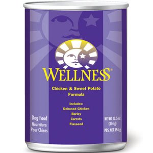 Wellness Chicken and Sweet Potato Canned Dog Food 6OZ 24 Pac