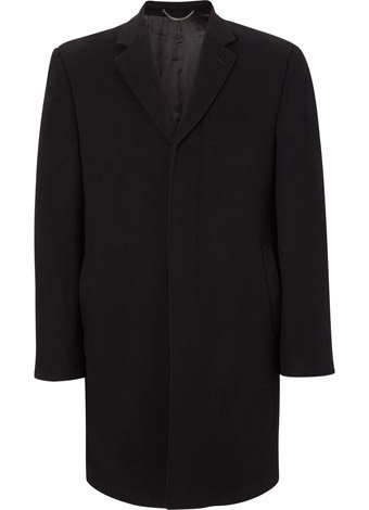 Austin Reed Black Wool and Cashmere Short Coat REGULAR MENS 42