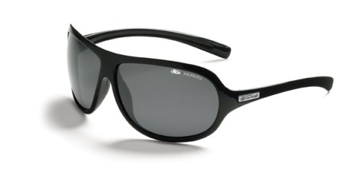 Bolle Fusion Belmont Sunglasses,Shiny Black/Polarized TNS