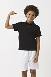Boy's Short Sleeve Embroidered Croc Super Light Polo