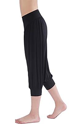 HOEREV® Women's Super Soft Modal Harem Yoga/ Pilates Capri Pants