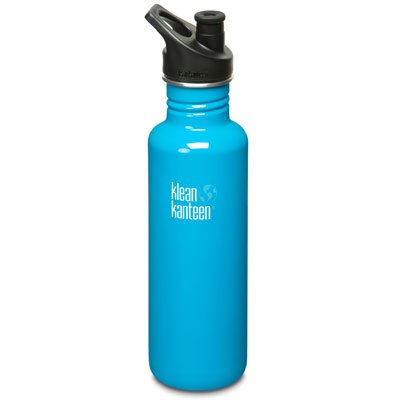 Klean Kanteen Sport Cap Bottle, 27 Oz. Island back-971494