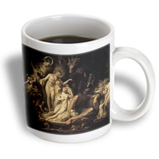Bln Fairies Fine Art Collection - Titanias Awakening, Henry Fuseli 1785 Mythological Fairy Painting - 15Oz Mug (Mug_126215_2)