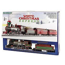"Bachmann White Christmas Express Ready To Run Electric Train Set - Large ""G"" Scale"