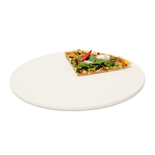 Relaxdays-10019339-Pizzastein-fr-Backofen-rund-Baking-Stone-aus-Cordierit-fr-knusprige-Steinofenpizza-wie-in-Pizzeria-Grillstein-fr-Pizza-Brot-und-Flammkuchen-in-Herd-und-Grill-Durchmesser-33-cm-1-cm-