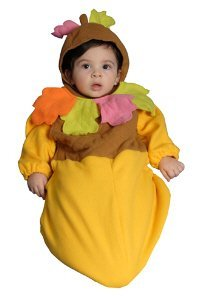 Baby Acorn Bunting Infant Halloween Costume Size 6-12m