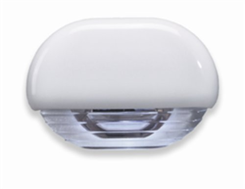 Hella 998560011 '8560 Series' Easy Fit Multivolt White 12-24V Dc Led Step Light With Clear Lens And White Plastic Cap
