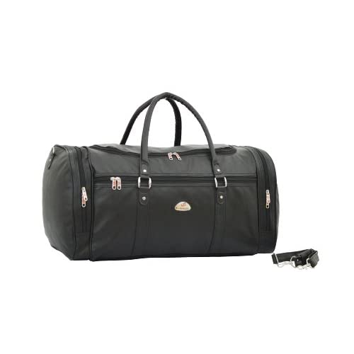 Strong Mens Large Holdall - Leatherette Weekend Travel Bag