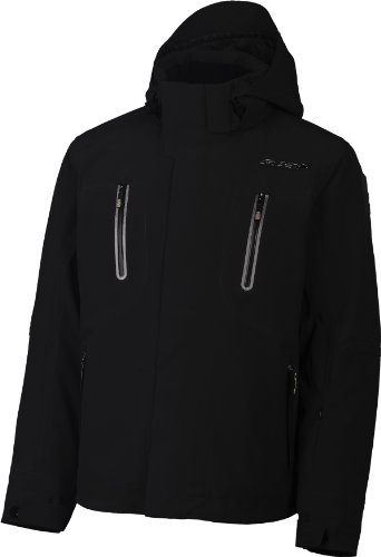 Spyder Monterosa Men's Ski Jacket - Black/White/Sharpline, XX-Large