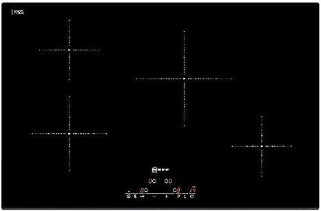 Neff T41D80X2 plaque - plaques (Intégré, Induction, verre-céramique, Noir, toucher, En haut devant)