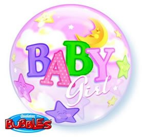 1 X Baby Girl Bubble Balloon - 1