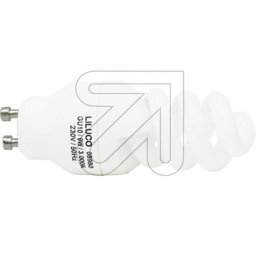 Energiesparlampe Spirale GU10 9W/830 8980