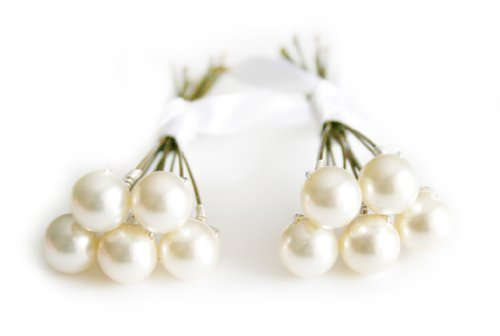 10 x Cream Pearl Wedding Bridal Hair Pins Made With SWAROVSKI ELEMENTS by Dent Designs