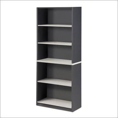 "Bestar 8353-+-43 Classic 65"" H Bookcase Finish: Maple & Silver"