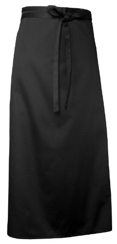 Chef Works CFLA-BLK Chef's Full Length Apron, 38-Inch Length by 40-Inch Width, Black