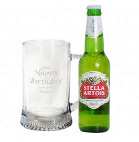 Gifts for Men - Personalised Stern Tankard Beer Gift Set