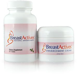 Breast Actives 1 KIT Breast Enhancement Kit by Breast Gain Plus 1 - 60 Tablet Bottle and 1 - 2 fl Oz Jar of Cream