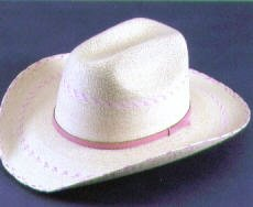 Atwood Kid's Pink Pinto Palm Leaf Hat