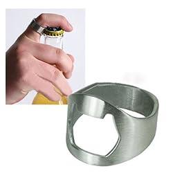 5Pcs Stainless Steel Finger Ring Bottle Opener Bar Beer Tool