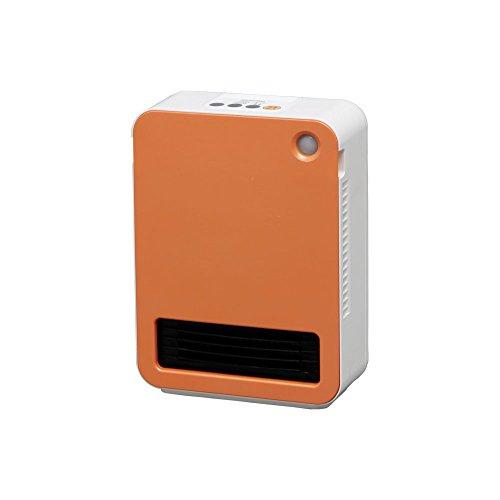 アイリスオーヤマ セラミックファンヒーター 人感センサー付き オレンジ JCH-12D-D