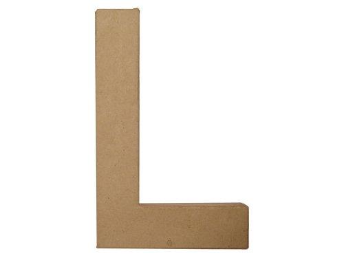 Paper Mache Letter L By Craft Pedlars 8 In.
